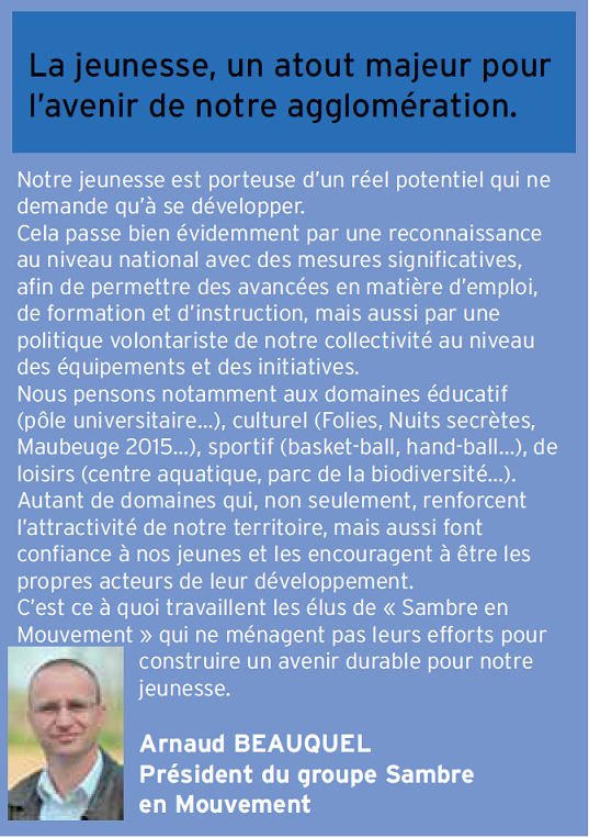 La Jeunesse,un atout majeur pour l'avenir de notre agglomération dans Arnaud Beauquel image-agglo-tribune